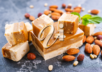 sweet scherbet with almond and cedar nuts