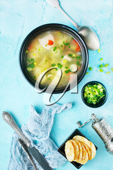 vegetable soup, soup with chicken and vegetables