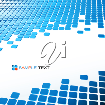 Vector abstract technology background with square shapes. Mosaic banner