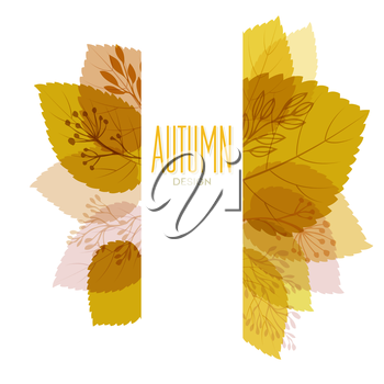 Autumn background with leaves. Vector illustration Eps10.