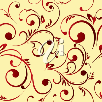 The vector illustration contains the image of floral seamless