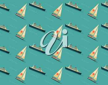 Royalty Free Clipart Image of a Boat Background