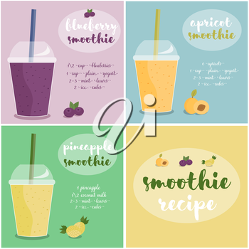Royalty Free Clipart Image of a Smoothie Background