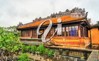 Pavilion at the Forbidden City in Hue. UNESCO world heritage in Vietnam