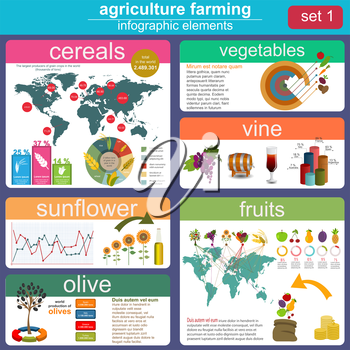 Agriculture, animal husbandry infographics, Vector illustration