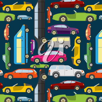Passenger car background. Vector illustration