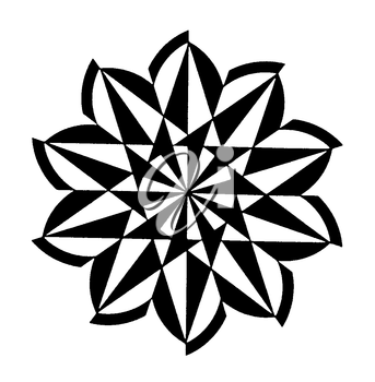 Royalty Free Clipart Image of an Abstract Flower