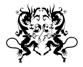 Royalty Free Clipart Image of a Heraldic Emblem