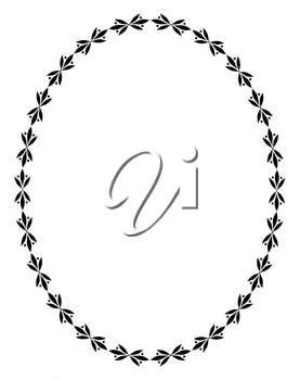 Royalty Free Clipart Image of an Oval Frame