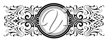 Royalty Free Clipart Image of a Decorative Round Frame