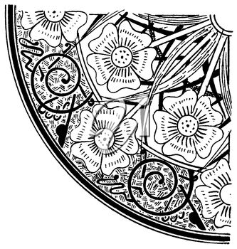 Royalty Free Clipart Image of a Floral Design Accent