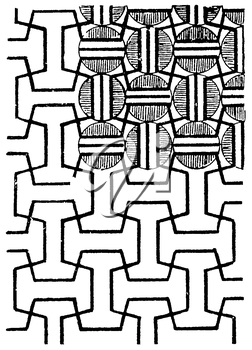 Royalty Free Clipart Image of a Background of Lines and Circles in the Corner