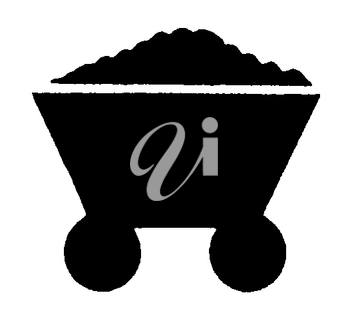 Royalty Free Clipart Image of a Coal Trolley