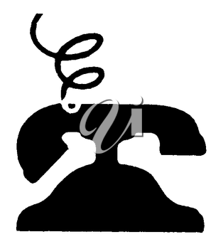 Royalty Free Clipart Image of an Old Phone