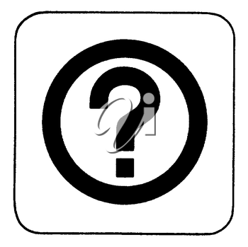 Royalty Free Clipart Image of a Question Mark in a Circle