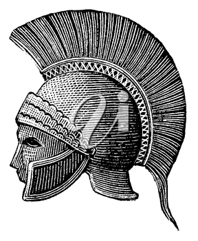 Royalty Free Clipart Image of a Roman Helmet