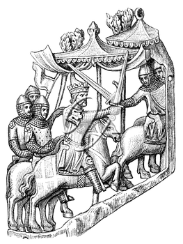 Royalty Free Clipart Image of a battle