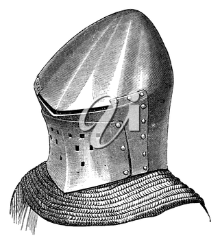 Royalty Free Clipart Image of a Helmet