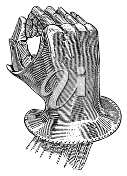 Royalty Free Clipart Image of a Gauntlet piece of Armour