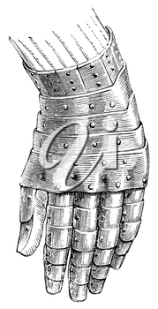 Royalty Free Clipart Image of a Gauntlet