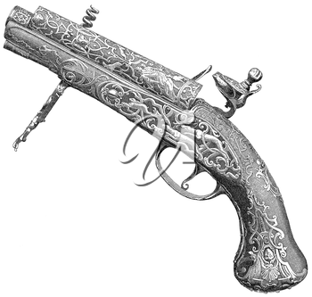 Royalty Free Clipart Image of a Gun