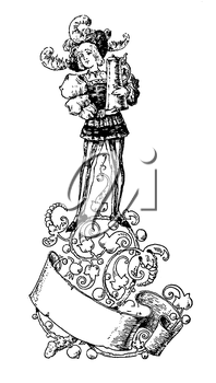 Royalty Free Clipart Image of a Victorian Boy