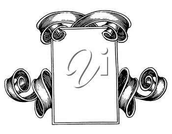 Royalty Free Clipart Image of a Decorative Page