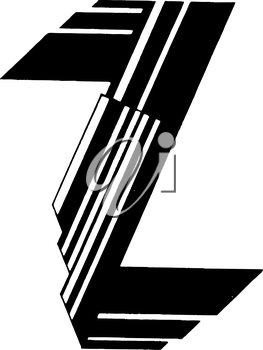 Royalty Free Clipart Image of a Z