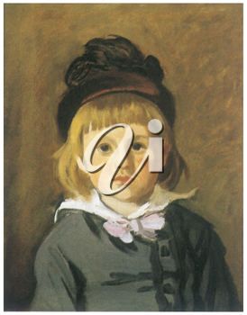 Royalty Free Clipart Image of Monet's Boy