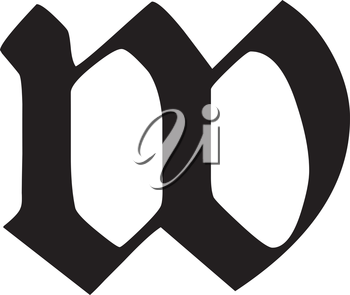 Royalty Free Clipart Image of a Letter W