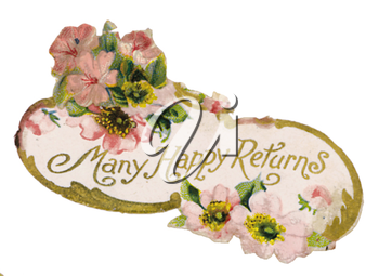 Royalty Free Clipart Image of a Victorian Greeting Card