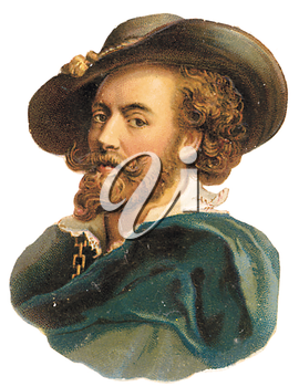 Royalty Free Clipart Image of a Historic Man