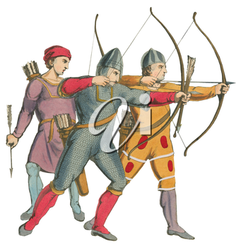Royalty Free Clipart Image of Archers