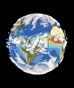 Royalty Free Clipart Image of Planet Earth from Space
