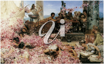 Royalty Free Clipart Image of The Roses of Heliogabalus by Lawrence Alma-Tadema