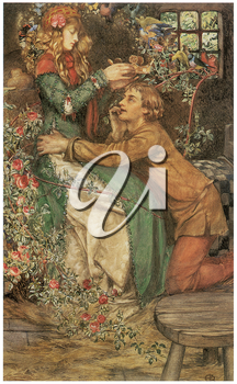 Royalty Free Clipart Image of Natural Magic by Eleanor Fortescue-Brickdale