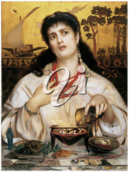 Royalty Free Clipart Image of medea by Frederick Sandys