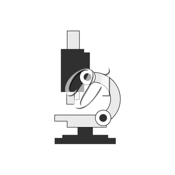 Microscope icon. Symbol in trendy flat style isolated on white background. Illustration element for your web site design, logo, app, UI.