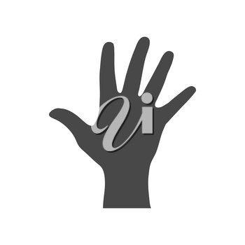 Hand, palm icon. Symbol in trendy flat style isolated on white background. Illustration element for your web site design, logo, app, UI.