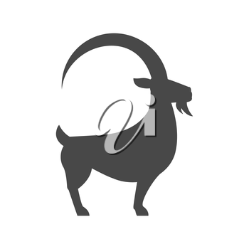 Goat icon. Symbol in trendy flat style isolated on white background. Illustration element for your web site design, logo, app, UI.