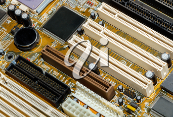 Part of the motherboard close up