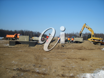 Sakhalin, Russia - 12 November 2014: Construction of the gas pipeline on the ground. Transportation of energy carriers.