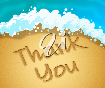 Thank You Representing Many Thanks 3d Illustration
