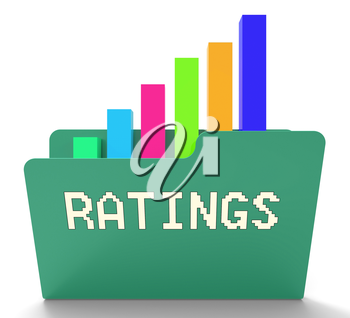 Ratings File Indicating Chart Classification 3d Rendering