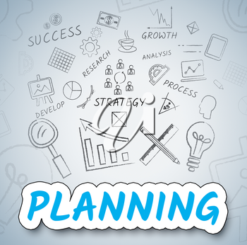 Planning Ideas Showing Objectives And Goals Icons