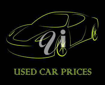 Used Car Prices Showing Second Hand Auto Values