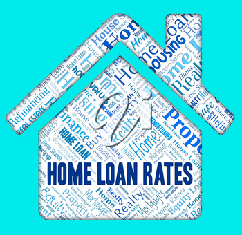 Home Loan Rates Showing Lends Borrower And Loaning