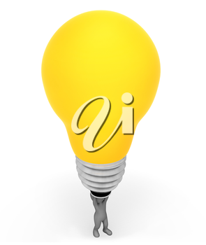 Idea Lightbulb Meaning Power Source And Contemplation 3d Rendering