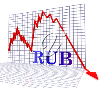 Rub Graph Negative Meaning Forex Down 3d Rendering