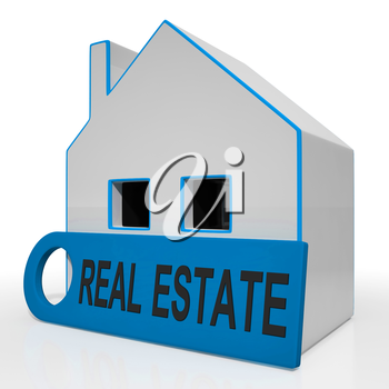 Real Estate House Meaning Homes Or Buildings On Property Market